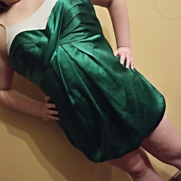 Emerald Green Short Prom Dress